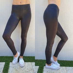 American Apparel Black Shiny Legging